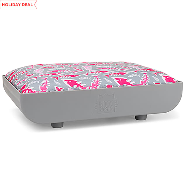 """Kitty Kasas Penthaus Gray Bed Accessory for Cats, 15.5"""" L X 12"""" W X 4"""" H - Carousel image #1"""
