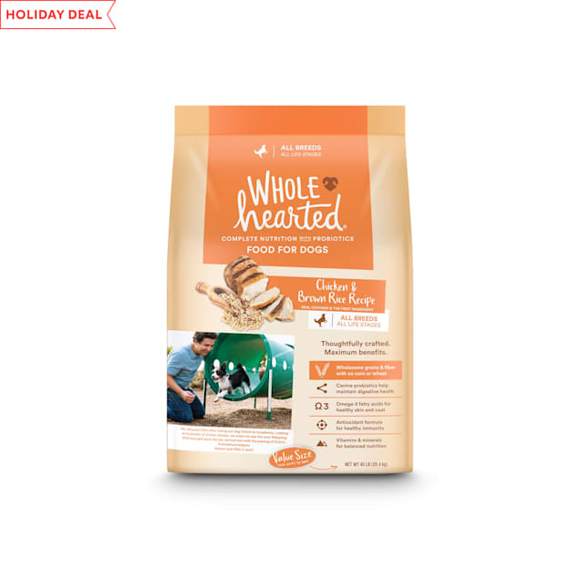 WholeHearted All Life Stages Chicken and Brown Rice Recipe Dry Dog Food, 45 lbs. - Carousel image #1