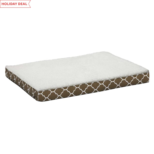 """Midwest Quiet Time Defender EcoSpring Orthopedic Brown Dog Bed, 30.25"""" L X 40"""" W - Carousel image #1"""