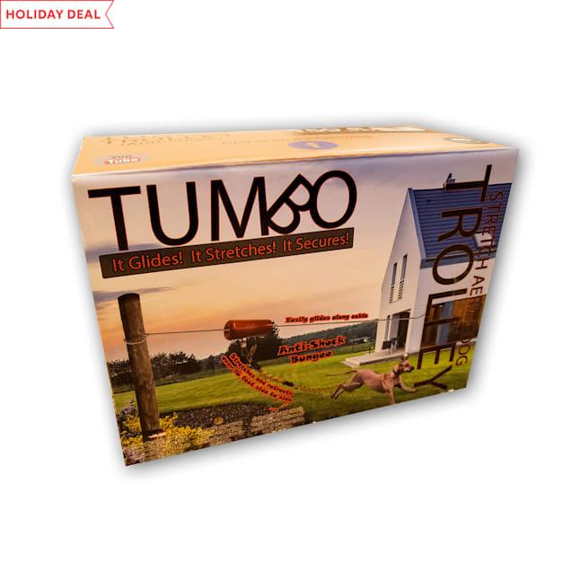 Tumbo Anti-Shock Trolley Dog Tie-Out Zipline, 50 ft. - Carousel image #1