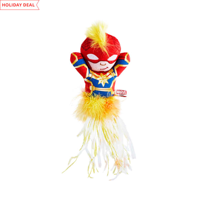 Marvel Captain Marvel Plush Kicker Cat Toy, Medium - Carousel image #1