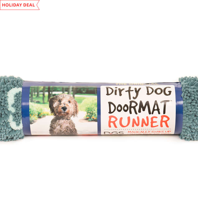 """Dog Gone Smart Dirty Dog Pacific Blue Doormat Runner for Dogs, 60"""" L X 30"""" W - Carousel image #1"""