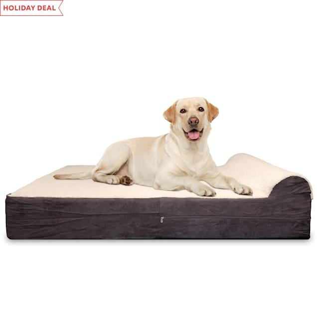 "Kopeks Orthopedic Memory Foam Dog Bed With Pillow, 50"" L X 34"" W X 7"" H - Carousel image #1"