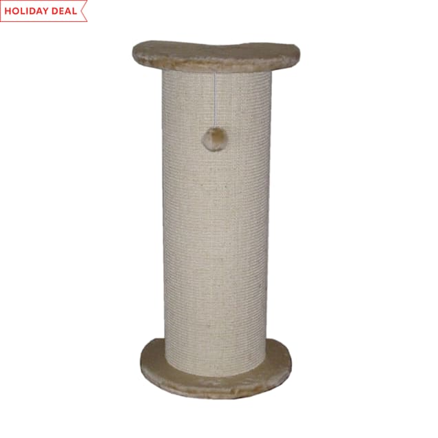 "Go Pet Club Beige Cat Sisal Scratching Post F17, 29"" H - Carousel image #1"