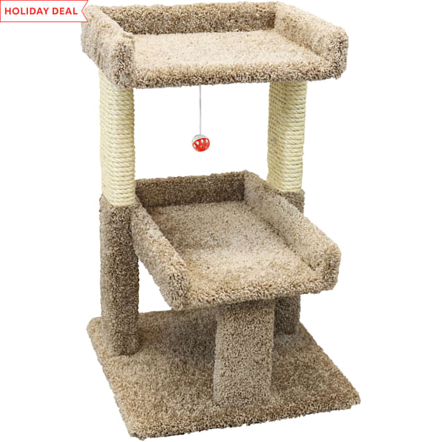 "New Cat Condos 2 Level Brown Cat Play Perch, 32"" H - Carousel image #1"