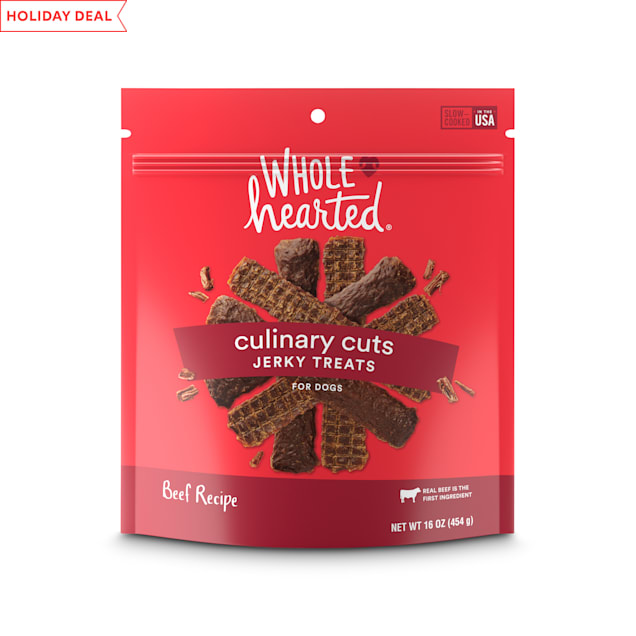 WholeHearted Culinary Cuts Beef Recipe Jerky Dog Treats, 16 oz. - Carousel image #1