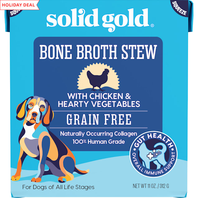 Solid Gold Bone Broth Stew with Chicken & Hearty Vegetables Wet Dog Food, 11 oz. - Carousel image #1