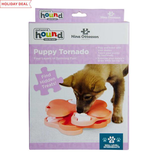 Outward Hound Pink Nina Torando Puzzle Puppy Toy, Large - Carousel image #1