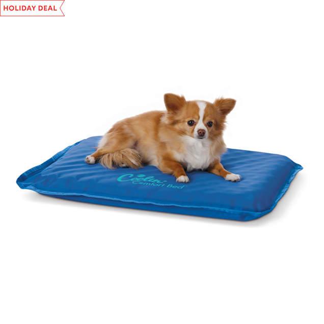 "K&H Coolin' Comfort Blue Dog Bed, 17"" L X 24"" W - Carousel image #1"