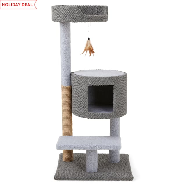 """EveryYay Lookout Loft 3-Level Cat Tree with Condo, 19.25"""" L X 19.25"""" W X 44"""" H - Carousel image #1"""