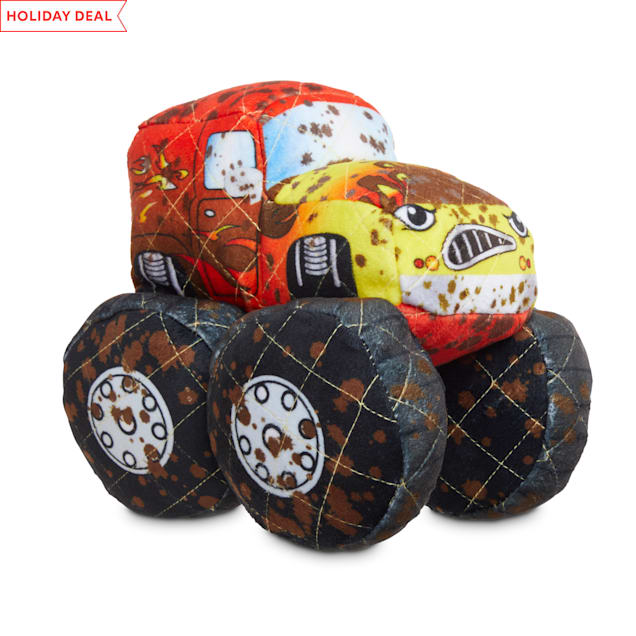 Leaps & Bounds Ruffest & Tuffest Monster Truck Tough Plush Dog Toy with Kevlar Stitching, Medium - Carousel image #1