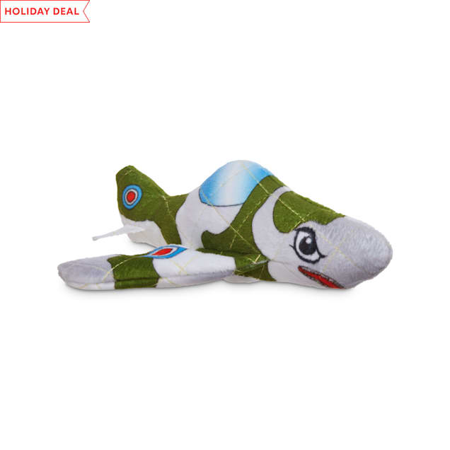 Leaps & Bounds Ruffest & Tuffest Fighter Jet Tough Plush Dog Toy with Kevlar Stitching, X-Small - Carousel image #1
