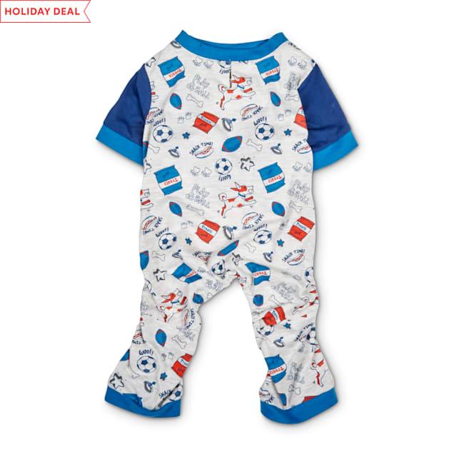 Bond & Co. Grey & Multicolor Play Day Dog Pajamas, XX-Small - Carousel image #1
