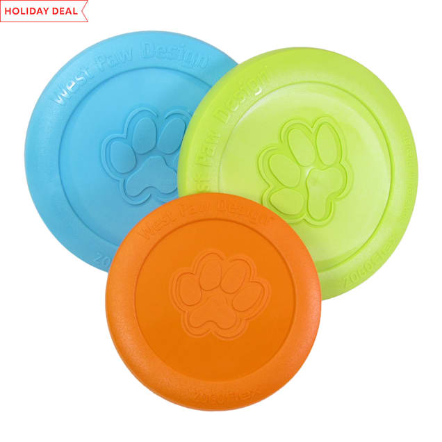 West Paw Zisc Frisbee Assorted Dog Chew Toy, Small - Carousel image #1