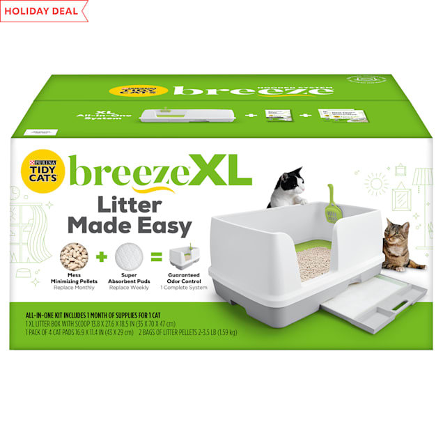 Purina Tidy Cats Breeze All-in-One Odor Control & Easy Clean Multi Non Clumping Cat Litter System, X-Large - Carousel image #1