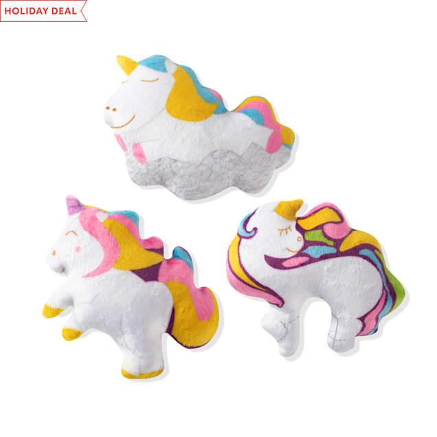 PetShop by Fringe Studio Unicorns Dog Toy Set, Count of 3 - Carousel image #1