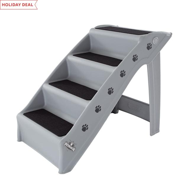 "PETMAKER Folding Plastic Gray Pet Stairs, 23"" L X 15"" W X 18.5"" H - Carousel image #1"
