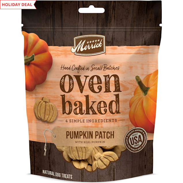 Merrick Natural Pumpkin Patch with Real Pumpkin Treats for Dogs, 11 oz. - Carousel image #1