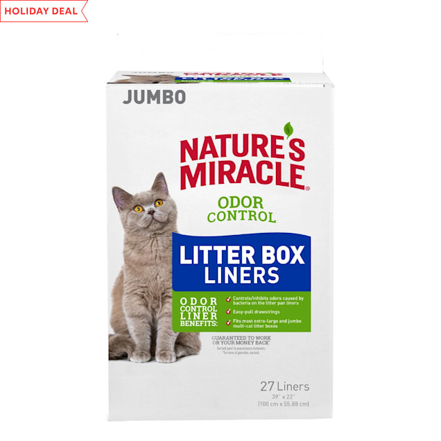 Nature's Miracle Odor Control Jumbo Cat Litter Box Liners, Count of 27 - Carousel image #1