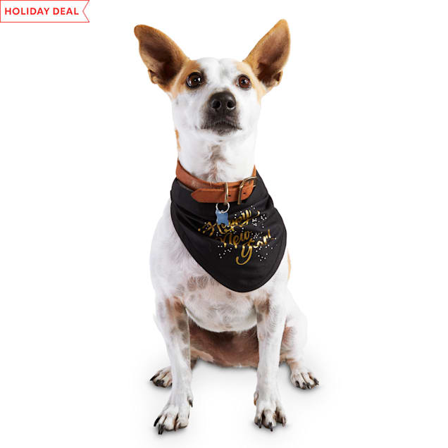 Holiday Tails Ring In The New Year Pet Bandana, Small/Medium - Carousel image #1