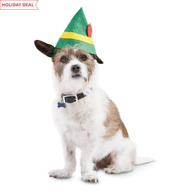 Elf Santa's Helper Hat Dog Headwear, X-Small/Small - Carousel image #1