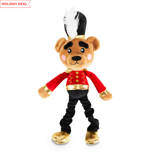 Holiday Tails The Nutcracker Bear Prince Plush Bungee Dog Toy with Squeaker, X-Large - Carousel image #1