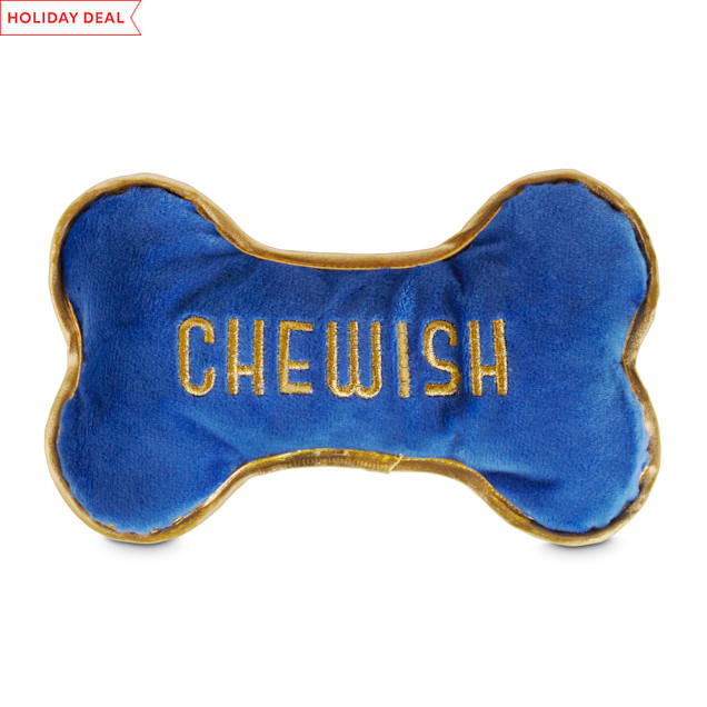 Holiday Tails Home For Hanukkah Plush Dog Toy with Squeaker & Crinkle, Large - Carousel image #1