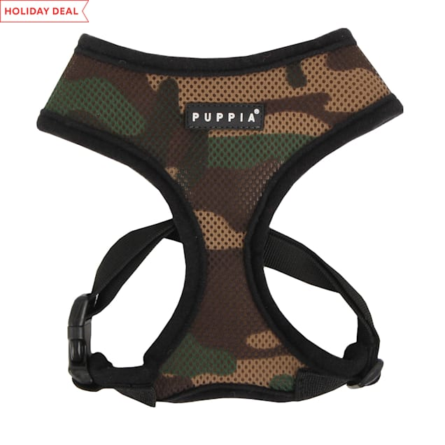 Puppia Camo Soft Dog Harness, X-Small - Carousel image #1