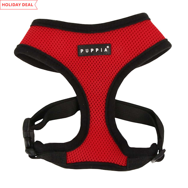 Puppia Red Soft Dog Harness, X-Small - Carousel image #1