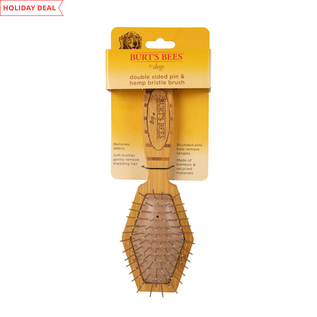 Burt's Bees Double Sided Pin & Hemp Bristle Brush for Dogs - Carousel image #1