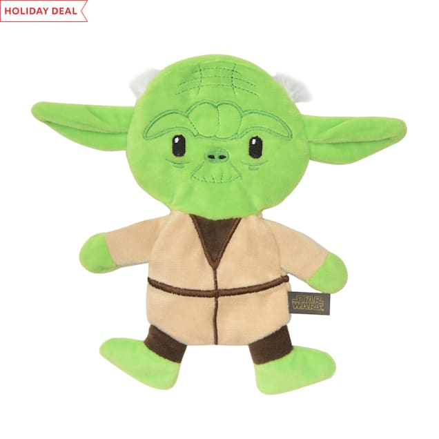 Fetch for Pets Yoda Plush Flattie Dog Toy, Small - Carousel image #1
