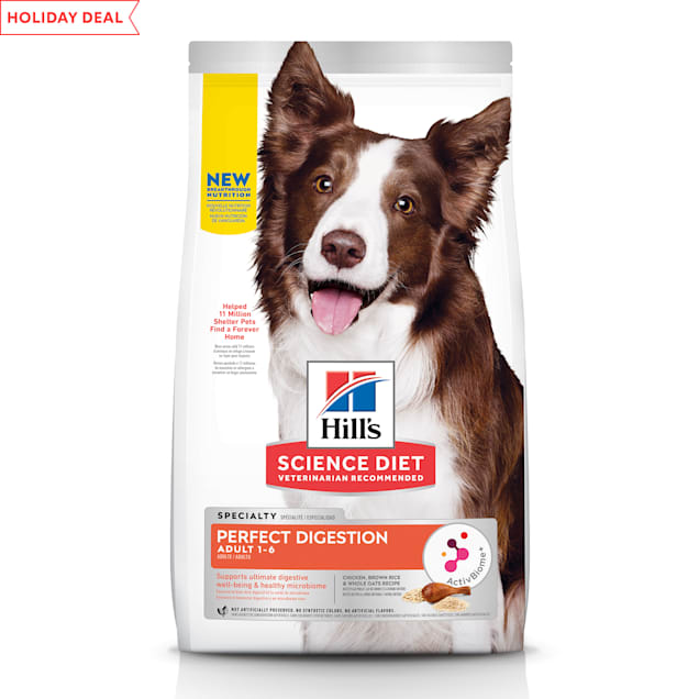 Hill's Science Diet Perfect Digestion Chicken, Brown Rice & Whole Oats Recipe Adult Dry Dog Food, 22 lbs. - Carousel image #1