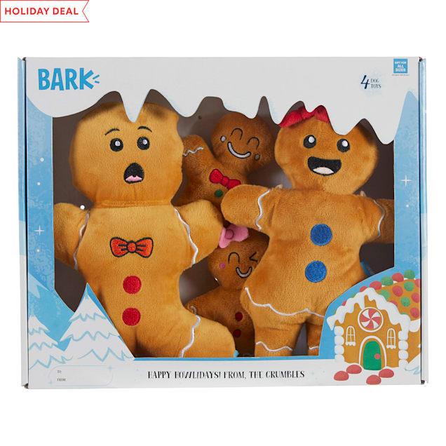 BARK Happy Howlidays! From the Crumbles Dog Toy, Medium - Carousel image #1
