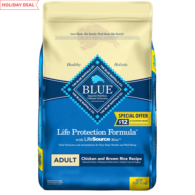 Blue Buffalo Blue Life Protection Formula Adult Chicken and Brown Rice Recipe Dry Dog Food, 36 lbs. - Carousel image #1