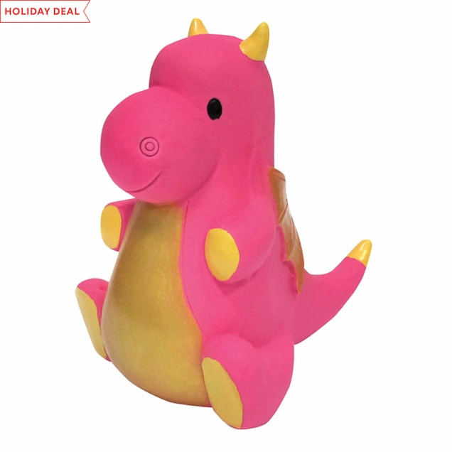 foufouBRANDS fouFIT Pink Dragon Chew Dog Toy - Carousel image #1