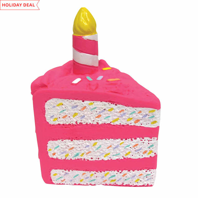 foufouBRANDS fouFIT Pink Birthday Cake Chew Dog Toy - Carousel image #1