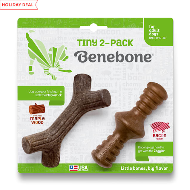 Benebone Stick/Zaggler Dog Chew Toys, X-Small, Pack of 2 - Carousel image #1