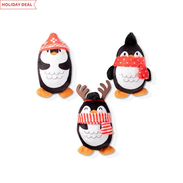 PetShop by Fringe Studio Penguins Plush Dog Toy Set, Small, Pack of 3 - Carousel image #1