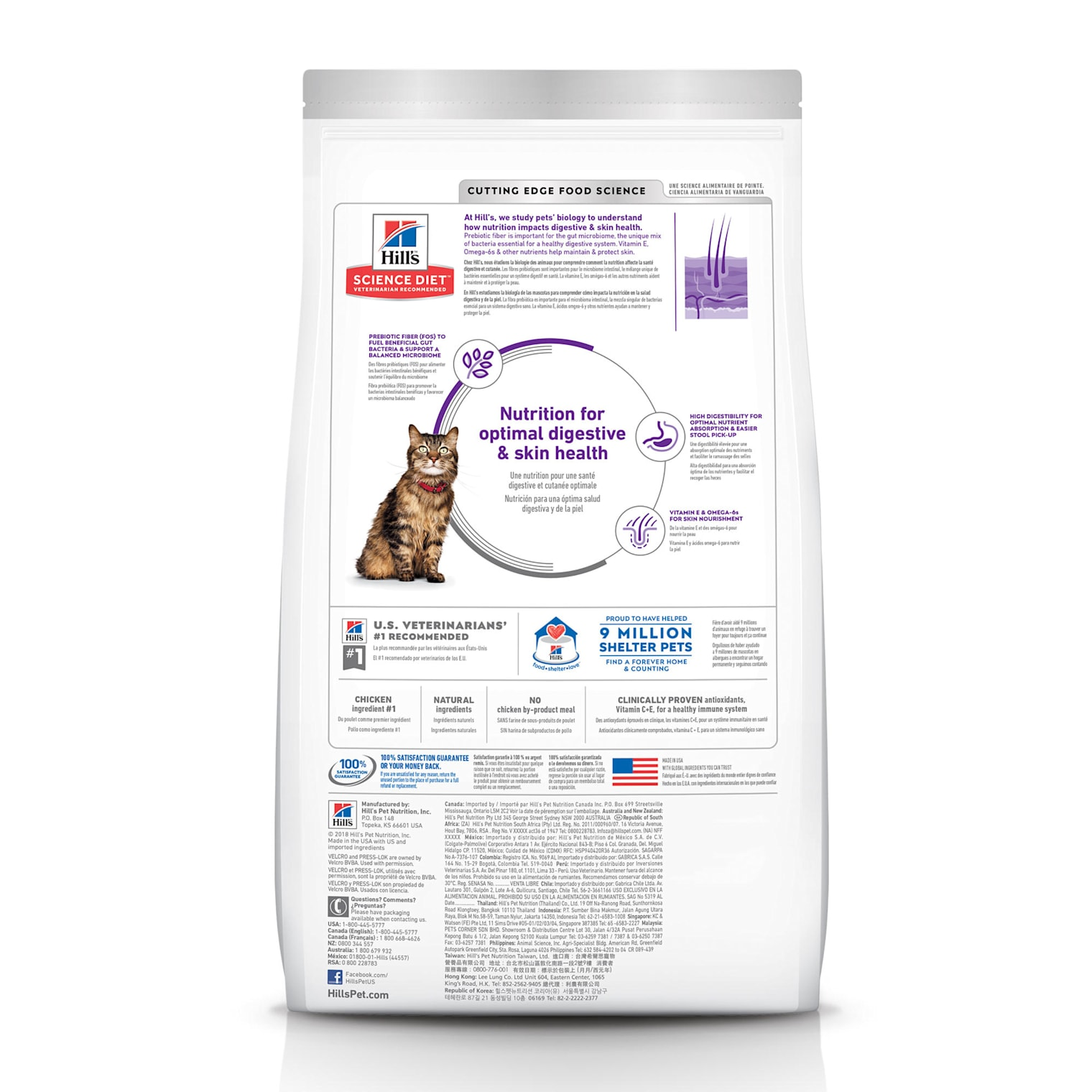 science diet sensitive stomach cat food carbohydrates