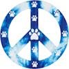 Imagine This Peace Paws Car Magnet - Thumbnail-1