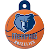 Quick-Tag Memphis Grizzlies NBA Circle Personalized Engraved Pet ID Tag - Thumbnail-1