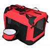 """Pet Life Folding Deluxe 360 Vista View House Carrier in Red, 23"""" L X 16"""" W X 16"""" H - Thumbnail-2"""