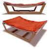 "Pet Lounge Studios Bambu Nautical Hammock Pet Bed in Orange, 35.5"" L X 26.25"" W X 9"" H - Thumbnail-1"