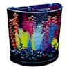 "GloFish Half-Moon Bubbling With Blue LED Bubbler Aquarium Kit 3 Gallons, 12.9"" W x 12.5"" H. - Thumbnail-3"