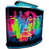 "GloFish Crescent Hidden Blue LED Light & Internal Filter Aquarium Kit 5 Gallons, 16.5"" L x 11.25"" W x 13.2"" H - Thumbnail-1"