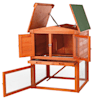 """Trixie Natura Two Story Hutch with Gabled Roof, 32.5"""" L X 28.25"""" W X 37.25"""" H - Thumbnail-3"""