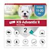 K9 Advantix II Topical Medium Dog Flea & Tick Treatment, Pack of 2 - Thumbnail-1