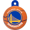 Quick-Tag Golden State Warriors NBA Circle Personalized Engraved Pet ID Tag - Thumbnail-1