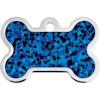 Quick-Tag Large Blue Hologram Bone Personalized Engraved Pet ID Tag - Thumbnail-1