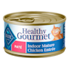 Blue Buffalo Blue Healthy Gourmet Indoor Mature Chicken Entree Wet Cat Food, 3 oz., Case of 24 - Thumbnail-1